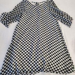 Altar'd State Checkered Dress